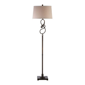 Tenley Twisted Bronze Floor Lamp