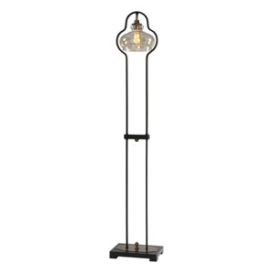 Cotulla Amber Glass Floor Lamp