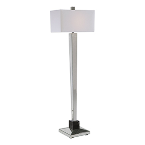 McBryde Mirrored One-Light Floor Lamp