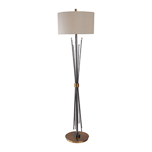Poloma Steel Rods One-Light Floor Lamp