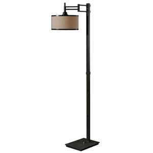 Prescott Dark Chocolate Bronze One-Light Floor Lamp