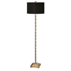 Quindici Metal Bamboo One-Light Floor Lamp