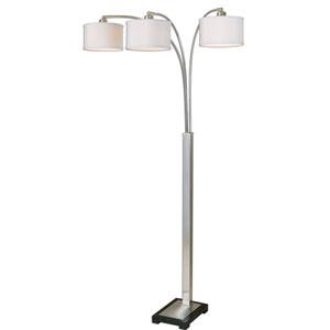 Bradenton Brushed Nickel Three-Light Floor Lamp