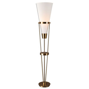 Bergolo Brushed Brass One-Light Floor Lamp