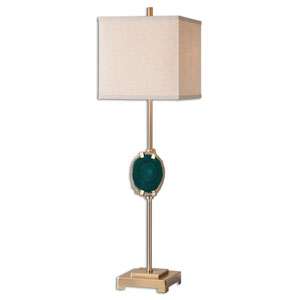 Achates Emerald Agate One-Light Buffet Lamp