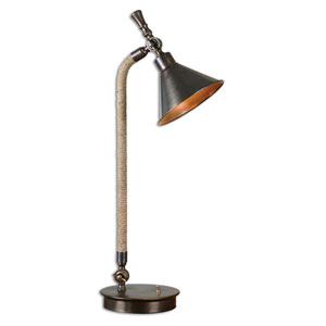 Duvall Oxidized Bronze One-Light Task Lamp