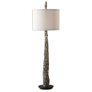 Tegal Metallic Silver Old Wood Buffet Lamp