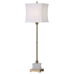 Liano Polished Ivory One-Light Table Lamp