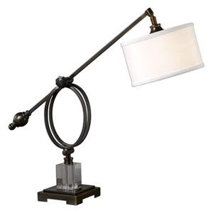 Levisa Brushed Dark Bronze One-Light Table Lamp