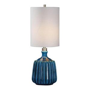 Amaris Blue Ceramic Lamp