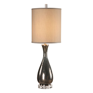 Meara Metallic Bronze One-Light Table Lamp