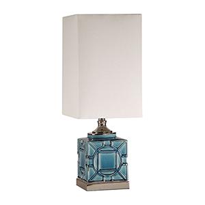 Pacorro Cracked Blue One-Light Lamp