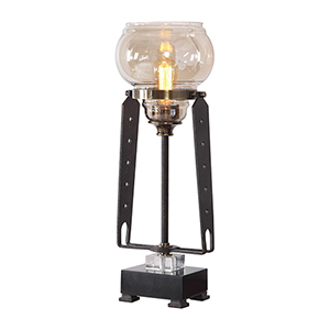 Curie Amber One-Light Accent Lamp
