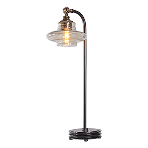 Lyell Amber One-Light Table Lamp