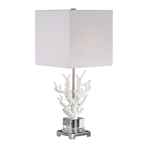 Corallo White Coral One-Light Table Lamp