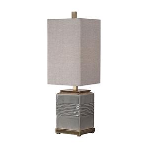 Covey Gray One-Light Buffet Lamp