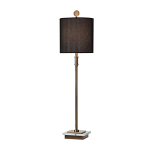 Volante Antique Brass One-Light Table Lamp