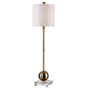 Laton Brass One-Light Buffet Lamp