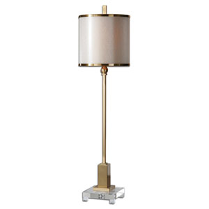 Villena Brush Brass One-Light Buffet Lamp