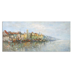 Overlooking The Sea by Matthew Williams: 60 x 26-Inch Hand Painted Art