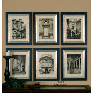 Paris Scene by Grace Feyock: 18 5/8 x 23 5/8 Print Reproduction, Set of Six