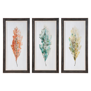 Tricolor Leaves by Grace Feyock: 27 x 55-Inch Wall Art, Set of Three