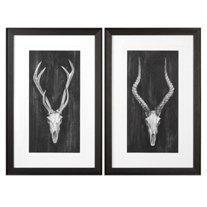 Rustic European Mounts Prints, Set of 2