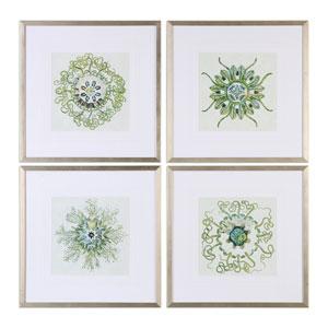 Organic Symbols Print Wall Art, Set of 4