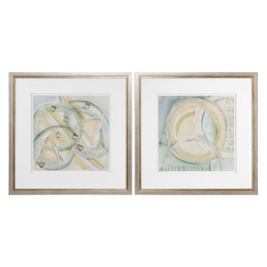 Abstracts Framed Prints, Set of Two
