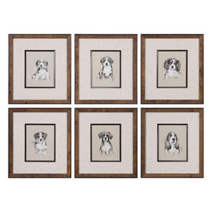 Small Breed Sketch Prints, Set of Six