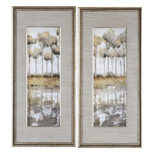 Uttermost Triptych Trees Hand Painted Art Set Of Three