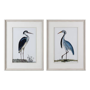 Shore Birds Framed Prints, Set of Two