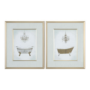 Gilded Bath Prints, Set of Two