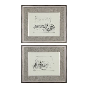 Stowaway Dog Prints, Set of Two