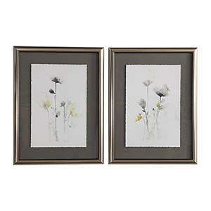 Stem Illusion Floral Art, Set of 2