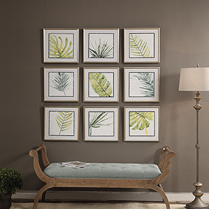 Verdant Impressions Leaf Prints, Set of 9
