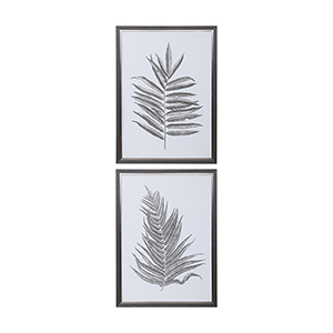 Silver Ferns Print, Set of Two