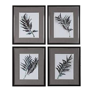 Eucalyptus Leaves Print, Set of Four