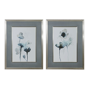 Midnight Blossoms Print, Set of Two