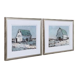 Plein Air Barns Print, Set of Two