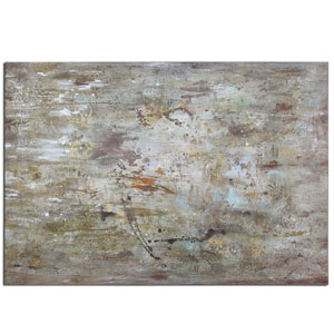 Middle Hand-Painted 70-Inch Abstract Decorative Art