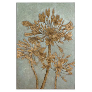Golden Leaves Wood 72-Inch Wall Art