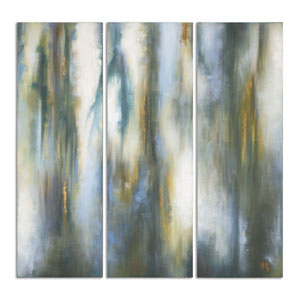 Moonglow by Grace Feyock: 20 x 60-Inch Modern Art, Set of Three