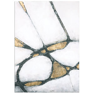 Abstract Art In Gold And Black by Grace Feyock: 42 x 60-Inch Wall Art