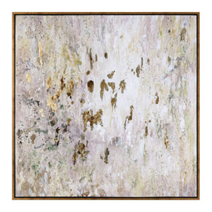 Golden Raindrops Modern Abstract Wall Art