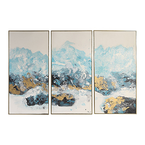 Crashing Waves Abstract Art, Set of 3