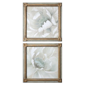 Winter Blooms by Grace Feyock: 29 x 29-Inch Floral Art, Set of Two