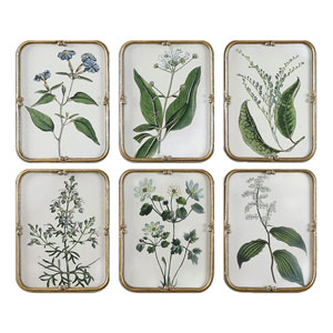 Blue Floral Art Collection by Grace Feyock: 13 x 17-Inch, Set of Six