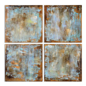 Accent Tiles by Grace Feyock: 20 x 20-Inch Modern Art, Set of Four