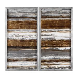 Metallic Layers Modern Wall Art, Set of 2
